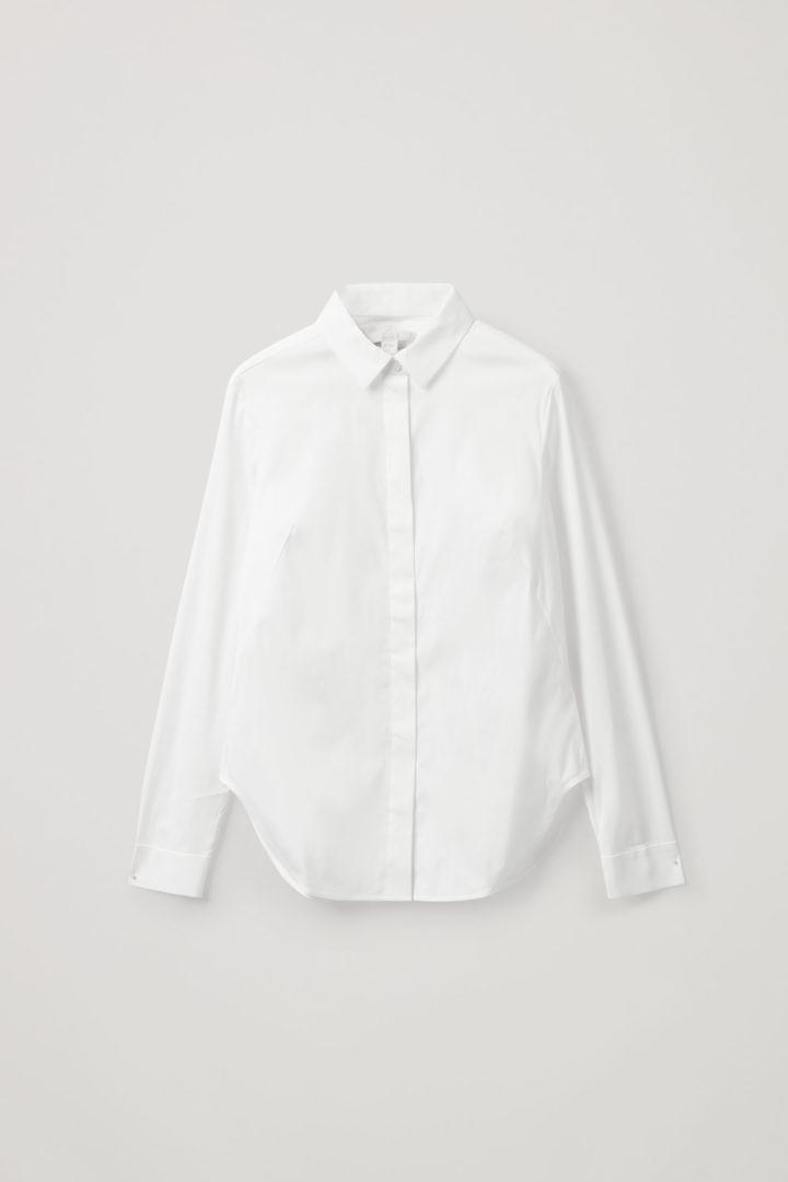 COS hover image 1 of 화이트 in 슬림 피티드 셔츠