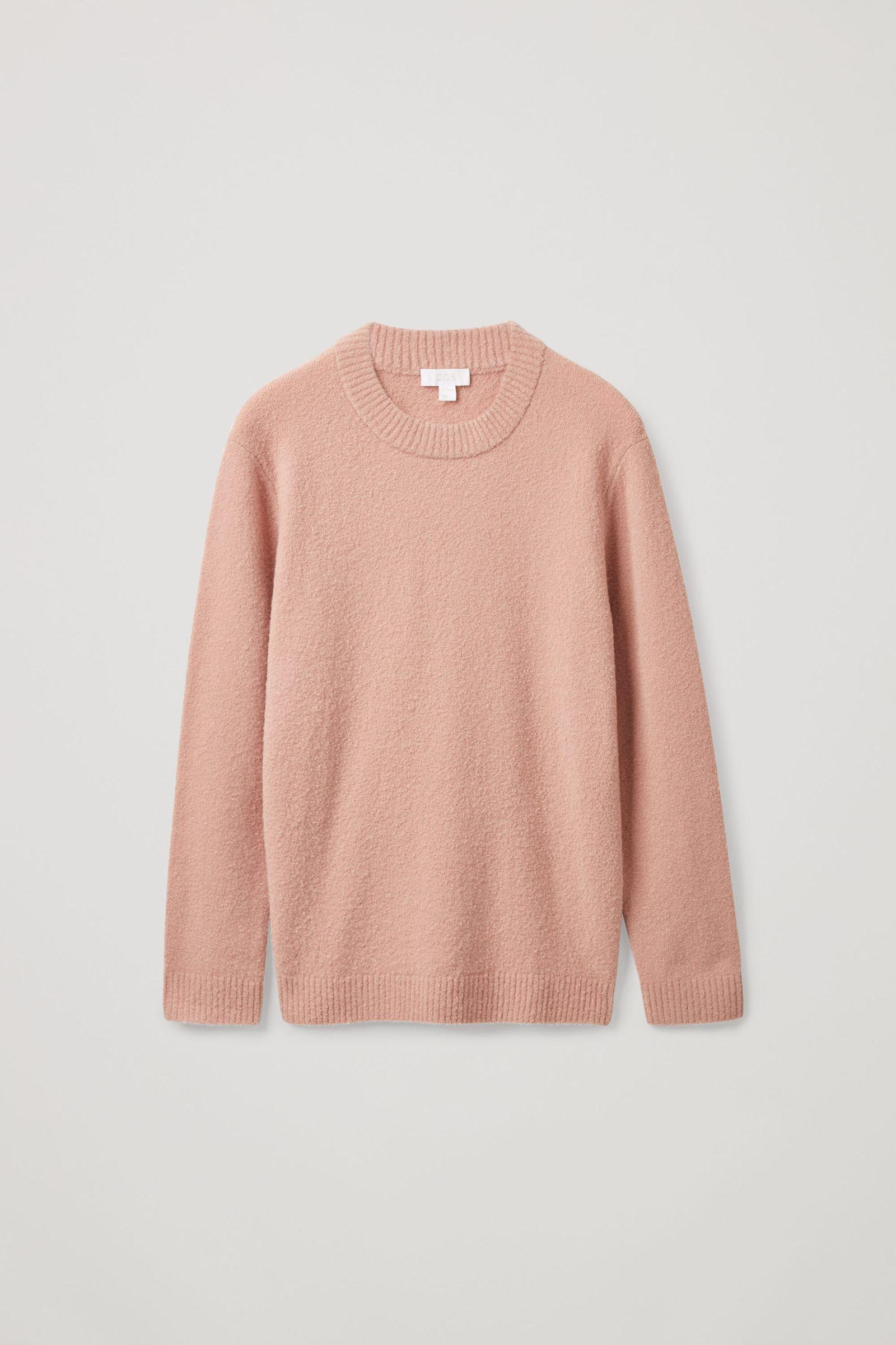 COS 릴랙스드 울 믹스 스웨터의 핑크컬러 Product입니다.