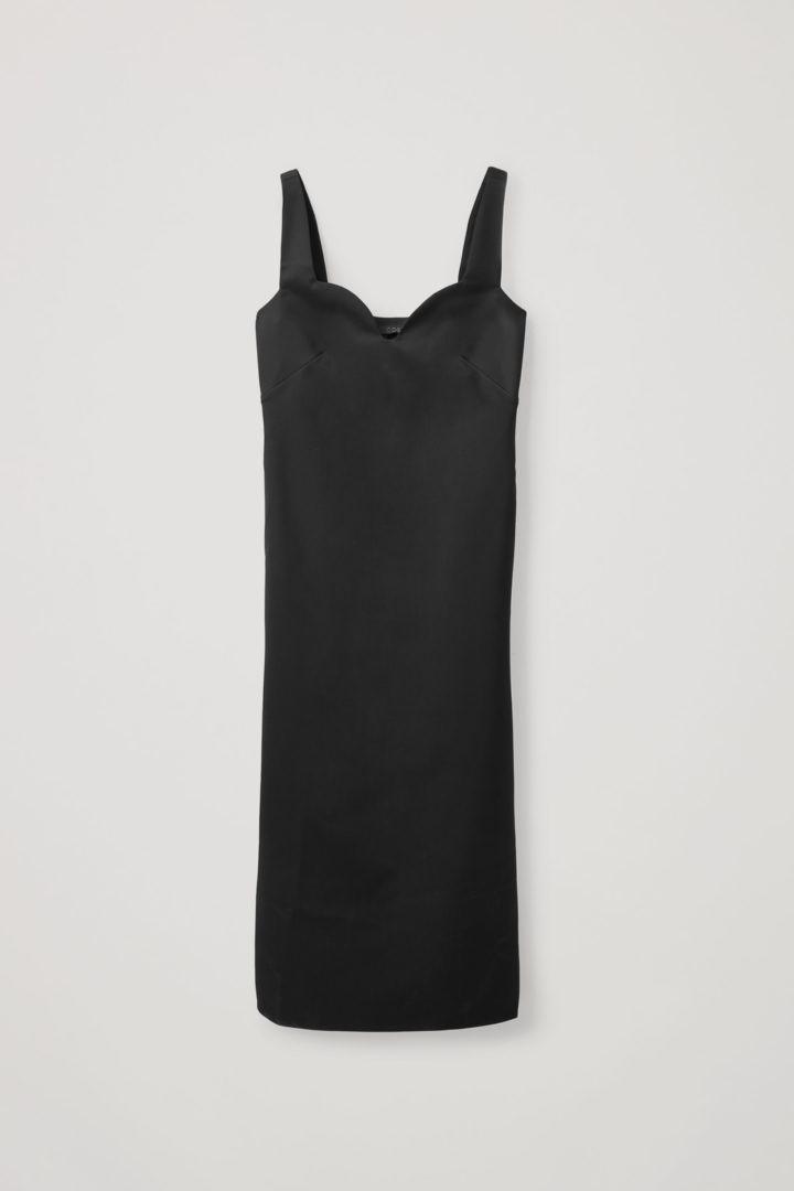 COS hover image 7 of 블랙 in 슬리브리스 플루이드 울 믹스 드레스