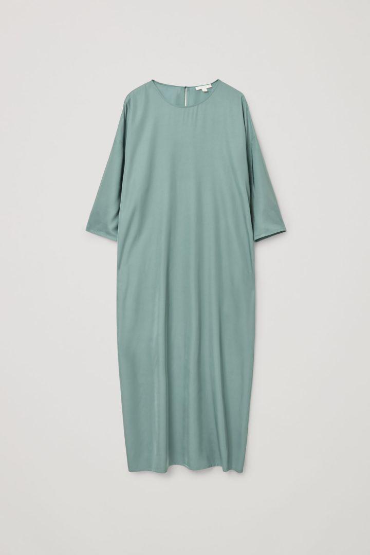 COS default image 4 of 터쿼이즈 in 릴랙스드 미디 드레스