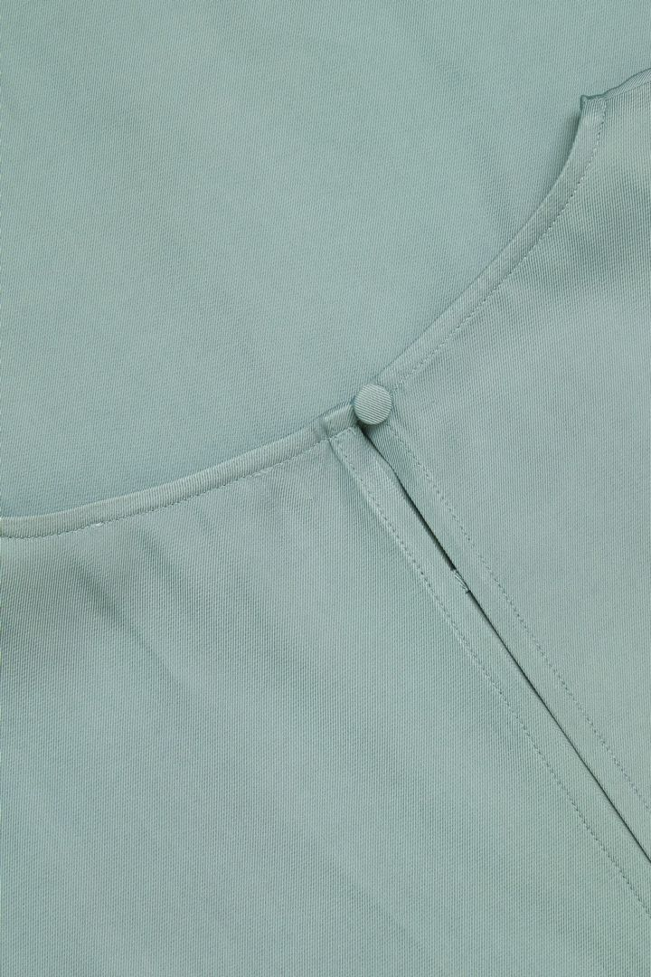COS hover image 4 of 터쿼이즈 in 릴랙스드 미디 드레스
