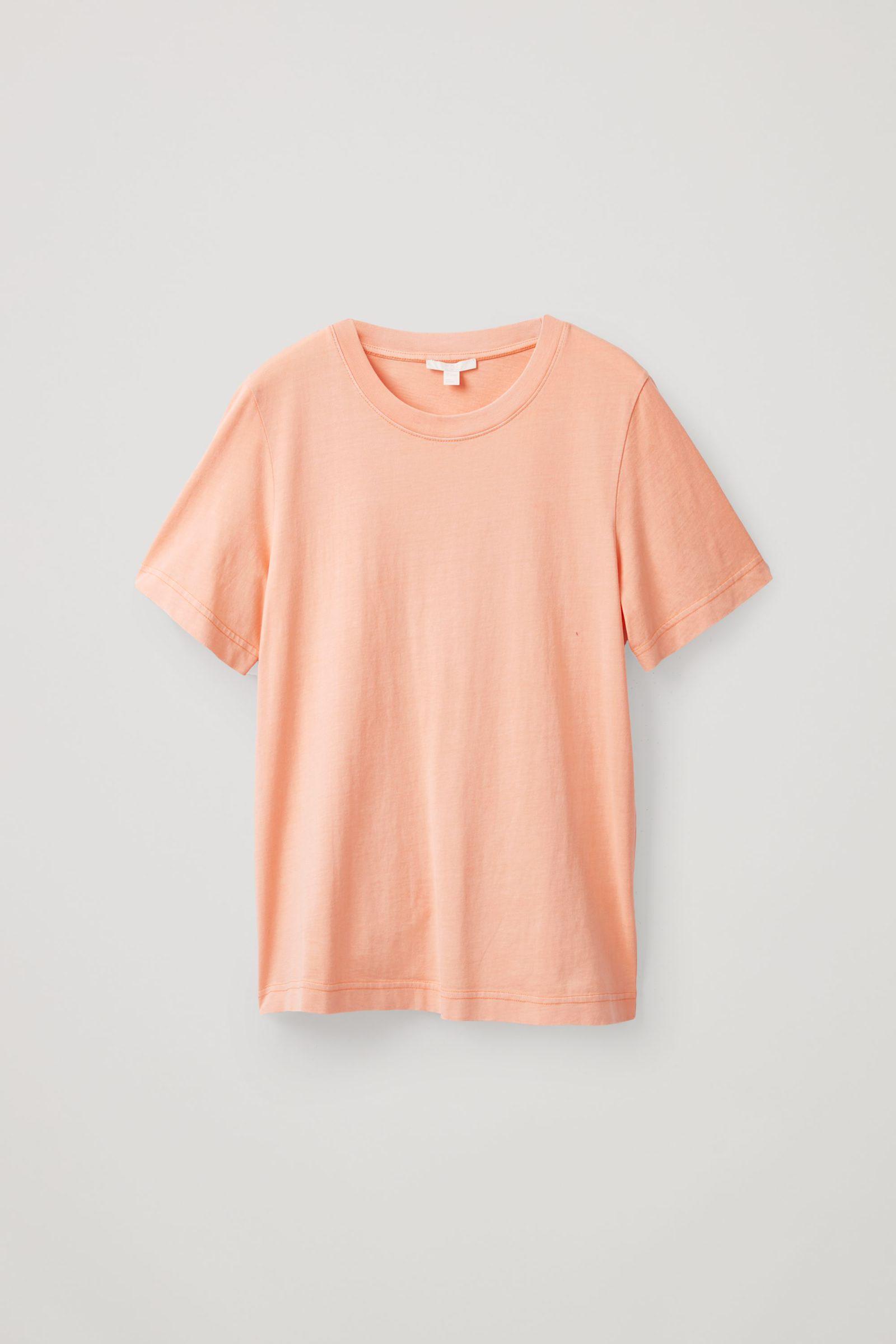 COS 코튼 저지 티셔츠의 핑크컬러 Product입니다.