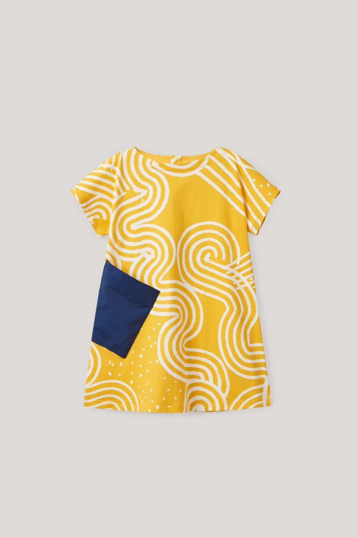 COS 스크리블 프린트 드레스의 옐로우컬러 Product입니다.