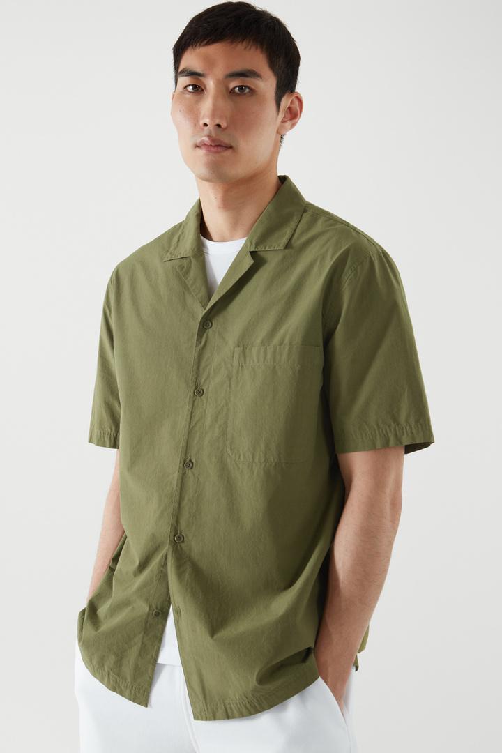 COS default image 5 of 그린 in 캠프 칼라 셔츠