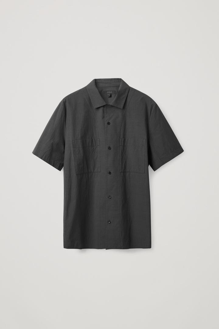 COS hover image 9 of 블랙 in 쇼트 슬리브 캠프 칼라 셔츠