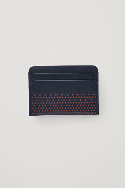 COS default image 6 of 오렌지 in 퍼포레이티드 레더 카드홀더