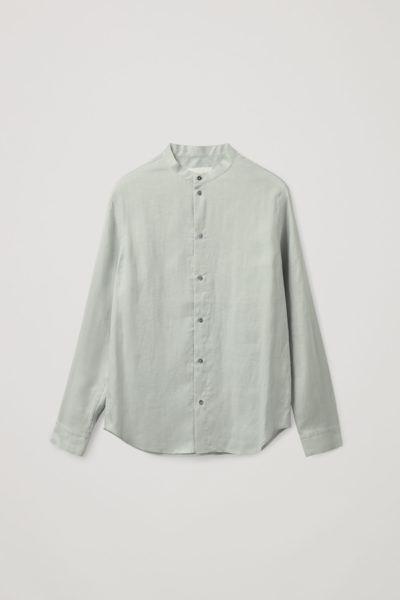 COS default image 7 of 터쿼이즈 in 헴프 셔츠