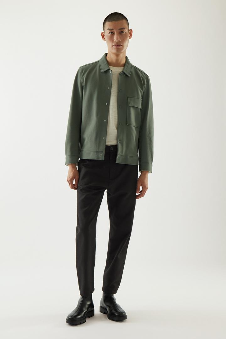 COS default image 10 of 그린 in 코튼 트윌 셔츠 재킷