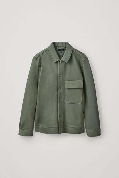 COS default image 11 of 그린 in 코튼 트윌 셔츠 재킷