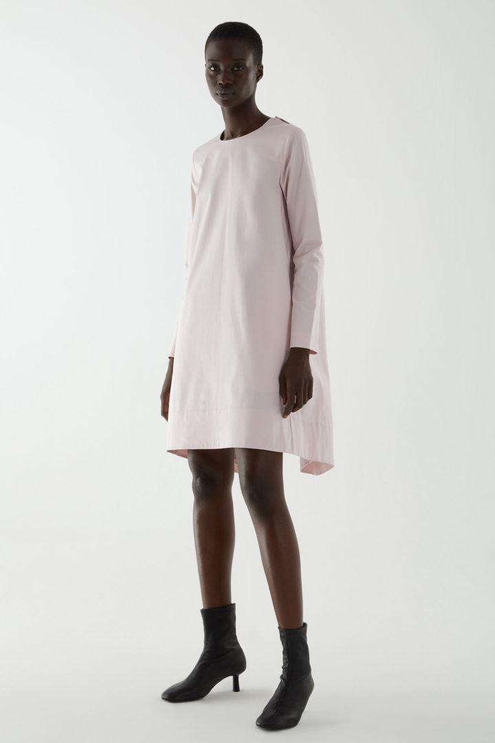 COS default image 9 of 핑크 in 박스 플리츠 에이라인 드레스