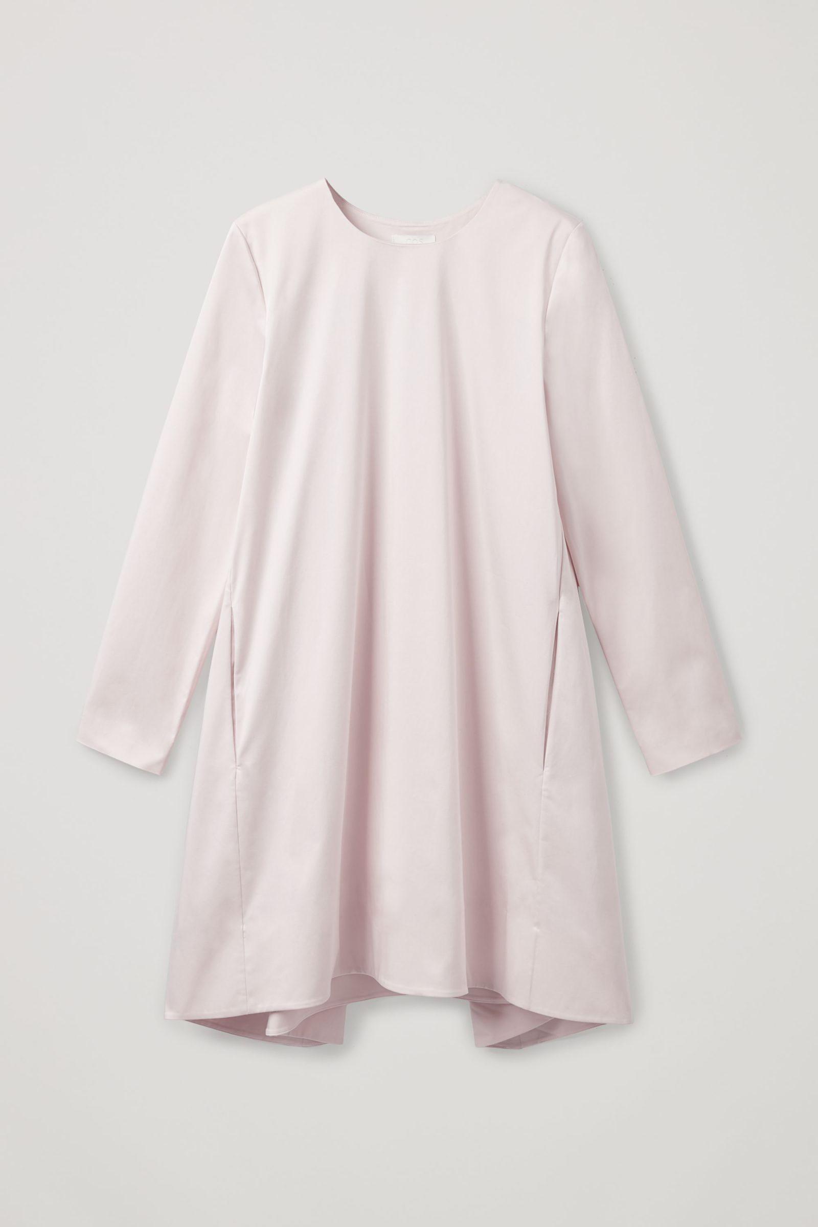 COS 박스 플리츠 A라인 드레스의 핑크컬러 Product입니다.