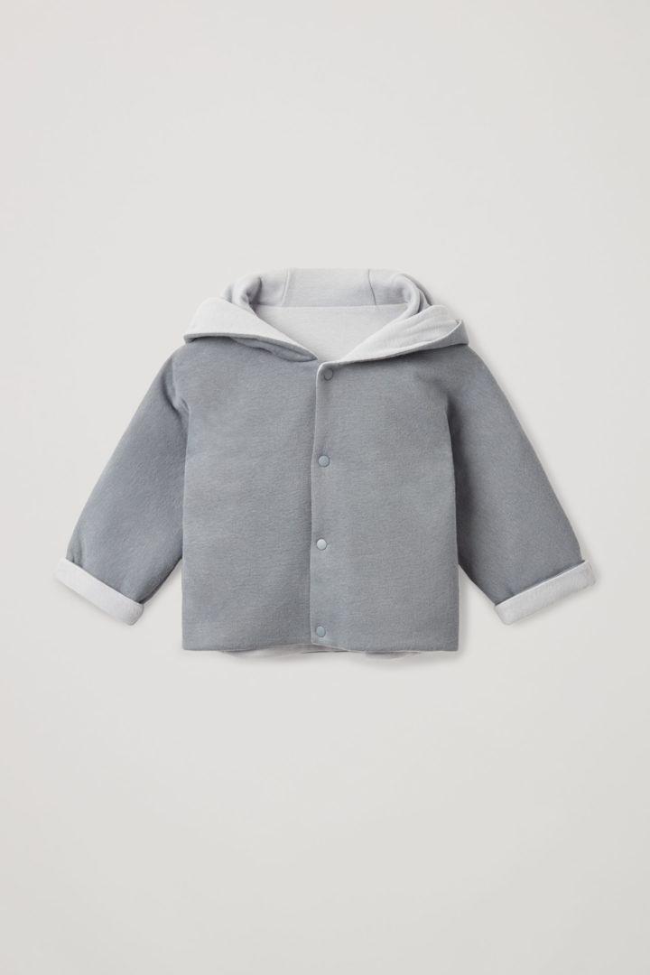 COS 오가닉 코튼 투톤 재킷의 그레이 / 라이트 그레이컬러 Product입니다.