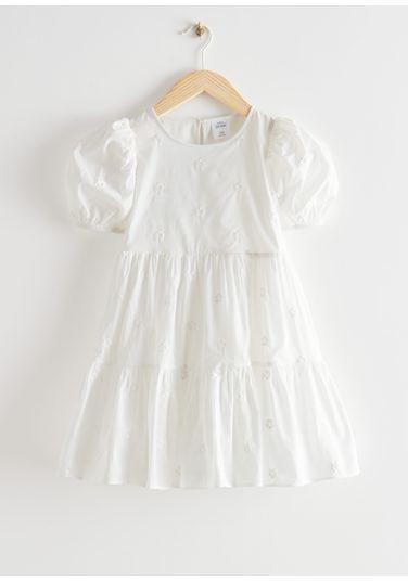 &OS image PRA default 8 of  in 키즈 티어드 퍼프 슬리브 드레스