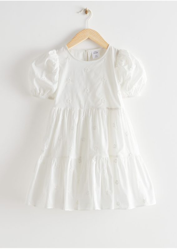 &OS image 7 of  in 키즈 티어드 퍼프 슬리브 드레스
