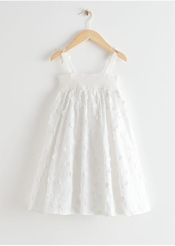 &OS image 3 of  in 키즈 플로럴 엠브로이더리 드레스