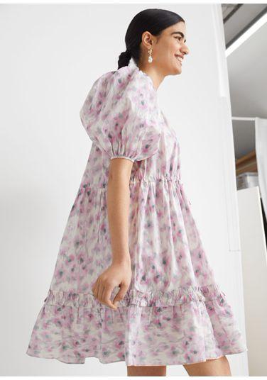 &OS image PRA default 8 of  in 티어드 퍼프 슬리브 미니 드레스