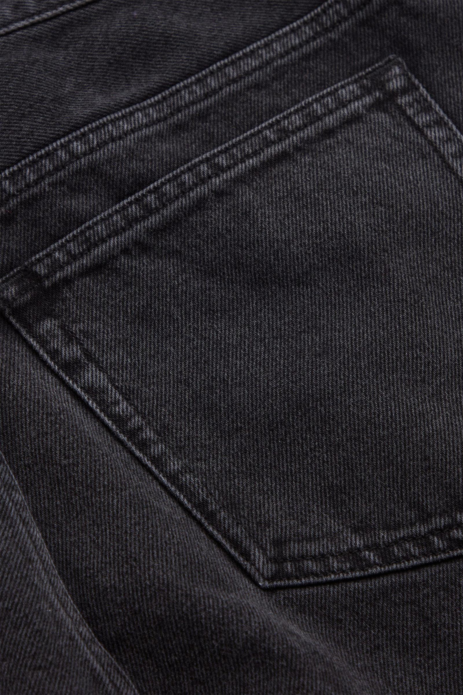 COS 리사이클 코튼 미드 라이즈 스트레이트 진의 그레이컬러 Detail입니다.