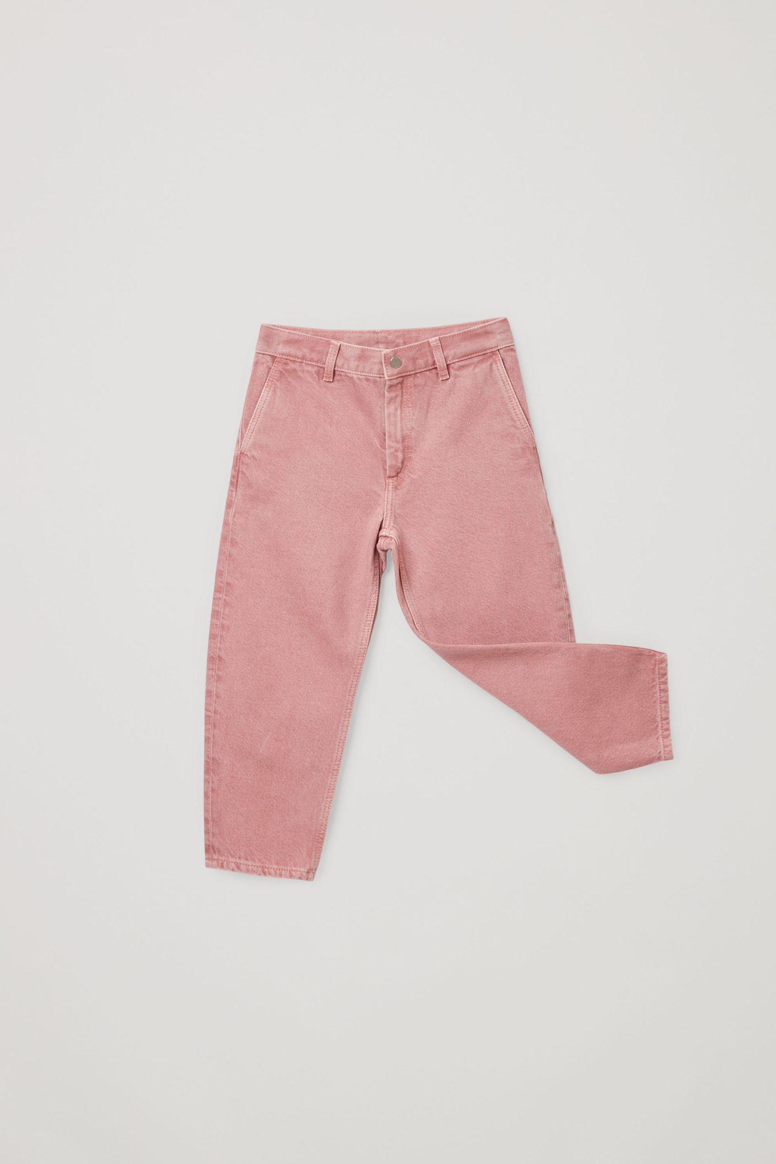 COS 오가닉 코튼 배럴 진의 핑크컬러 Product입니다.