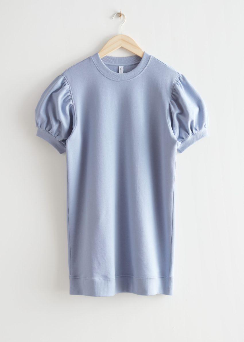 앤아더스토리즈 릴렉스드 저지 미니 드레스의 블루컬러 Product입니다.