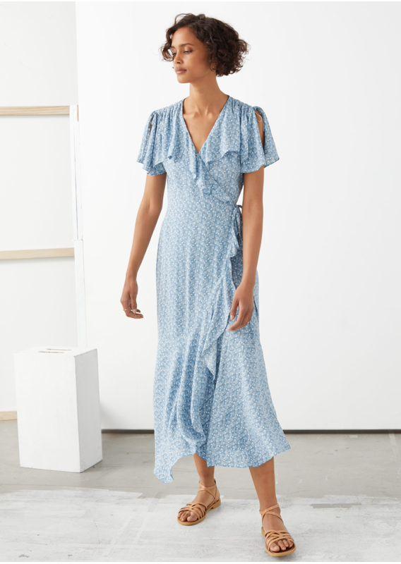 &OS image 8 of  in 에이시메트릭 랩 미디 드레스