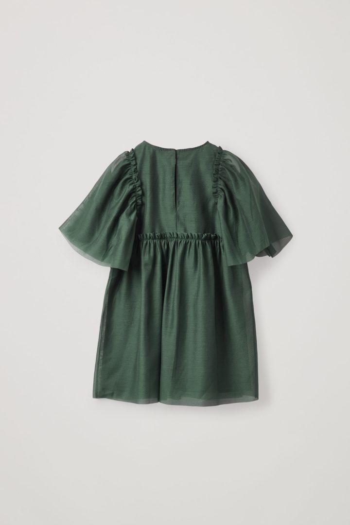 COS 쇼트 슬리브 튤 드레스의 그린컬러 Product입니다.