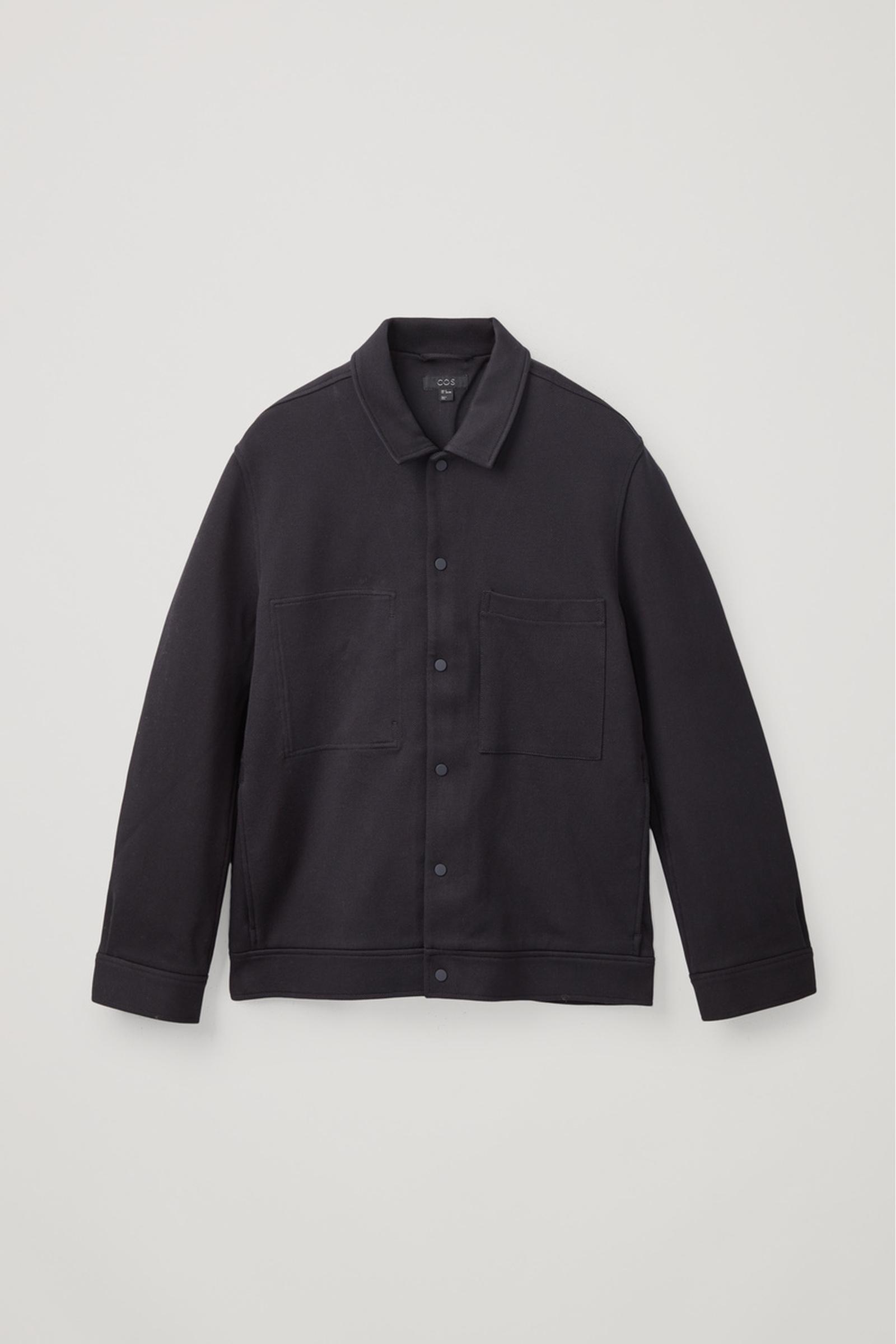 COS 트윌 셔츠 재킷의 미드나이트 블루컬러 Product입니다.
