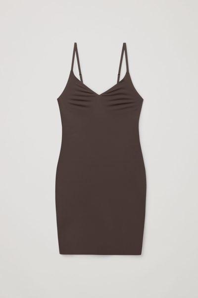 COS hover image 5 of 브라운 in 리사이클 나일론 슬립 드레스