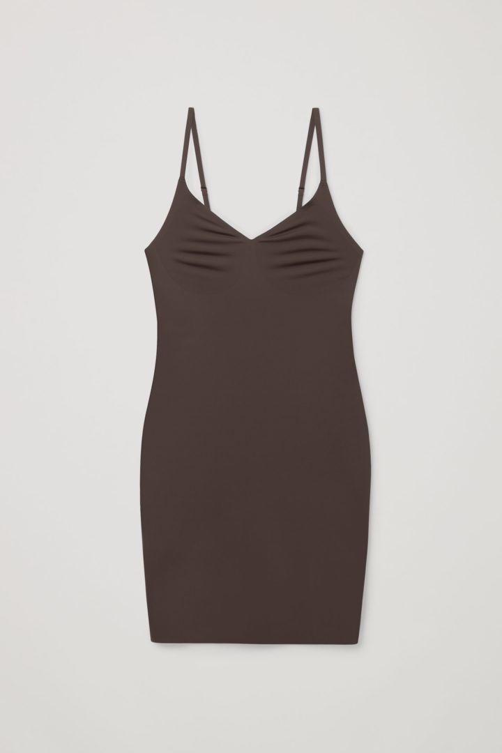 COS 리사이클 나일론 슬립 드레스의 쉐이드 216컬러 Product입니다.