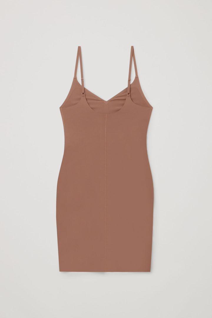 COS 리사이클 나일론 슬립 드레스의 쉐이드 319컬러 Product입니다.