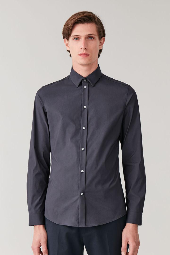 COS default image 7 of 블루 in 클래식 슬림핏 셔츠
