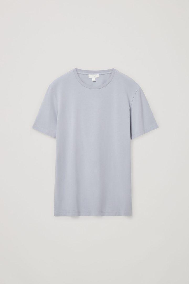 COS default image 8 of 블루 in 라운드 넥 티셔츠