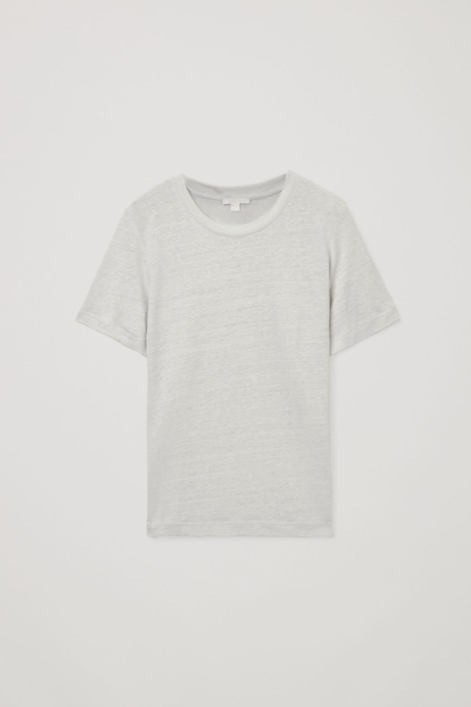 COS 리넨 티셔츠의 브라운컬러 Product입니다.