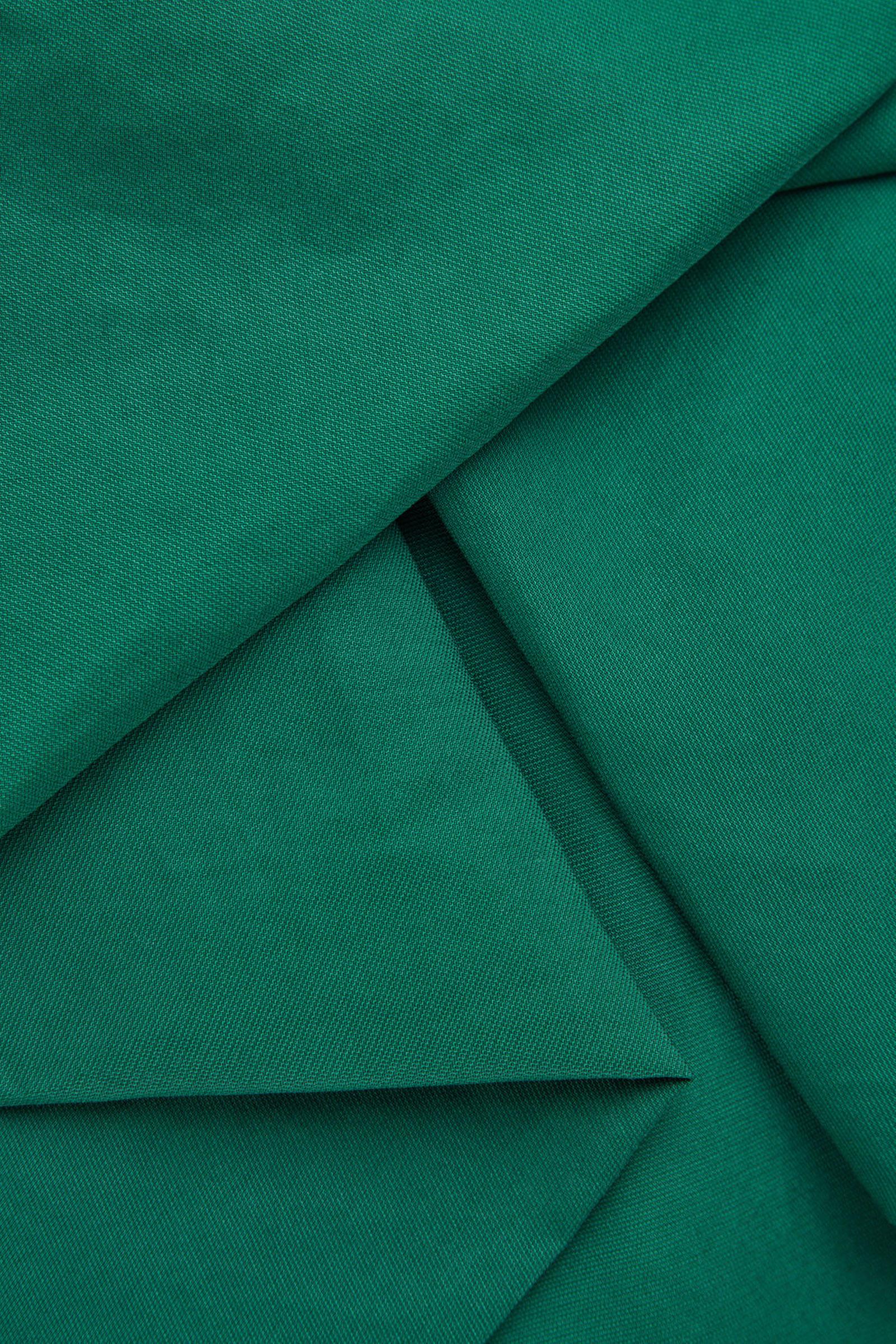 COS 롱 슬리브 개더드 헴 드레스의 그린컬러 Detail입니다.