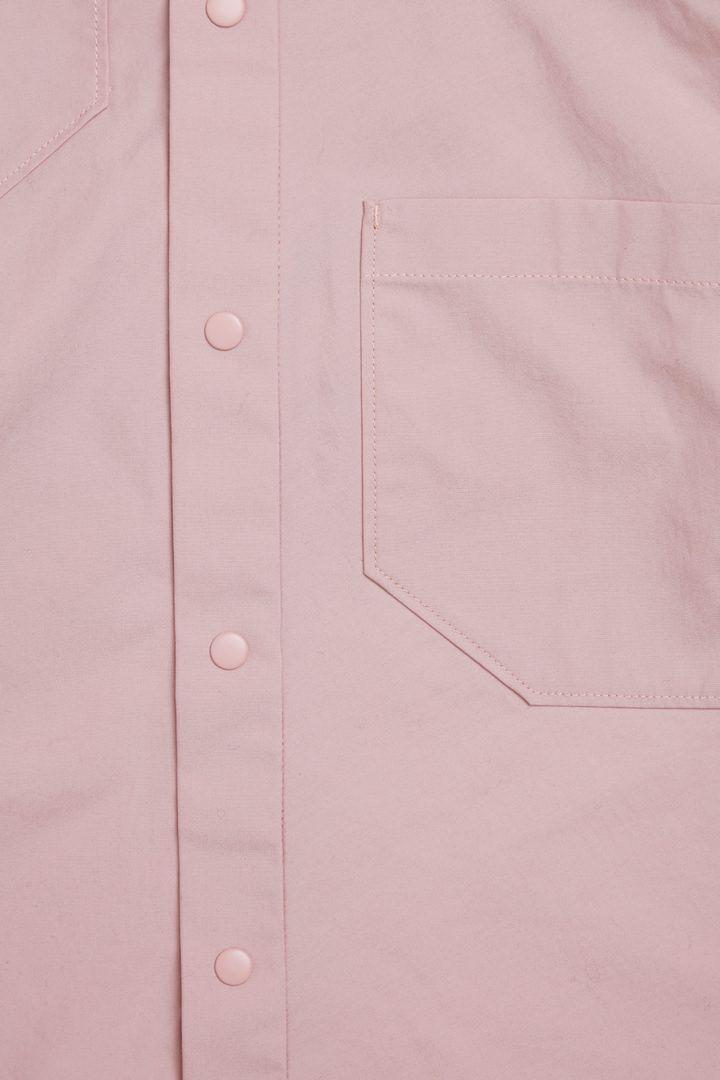 COS 포켓 코튼 드레스의 핑크컬러 Detail입니다.