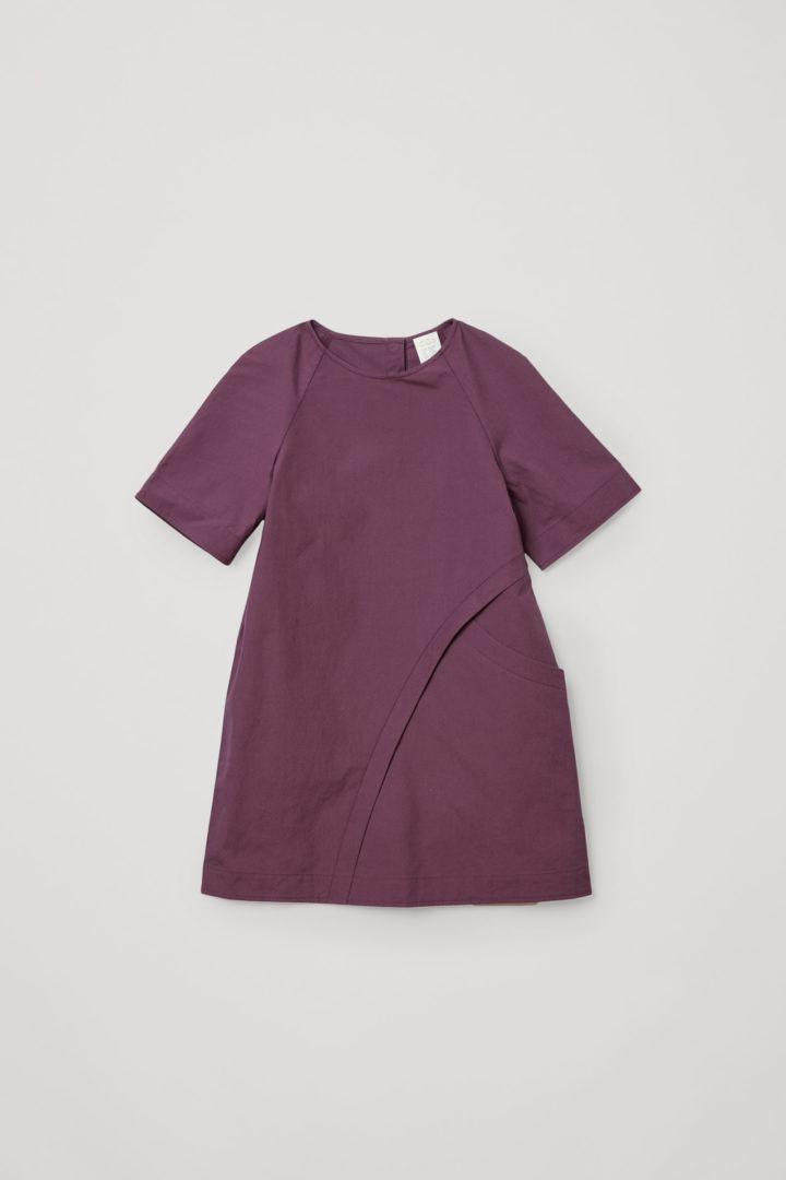 COS A라인 코튼 드레스의 퍼플컬러 Product입니다.