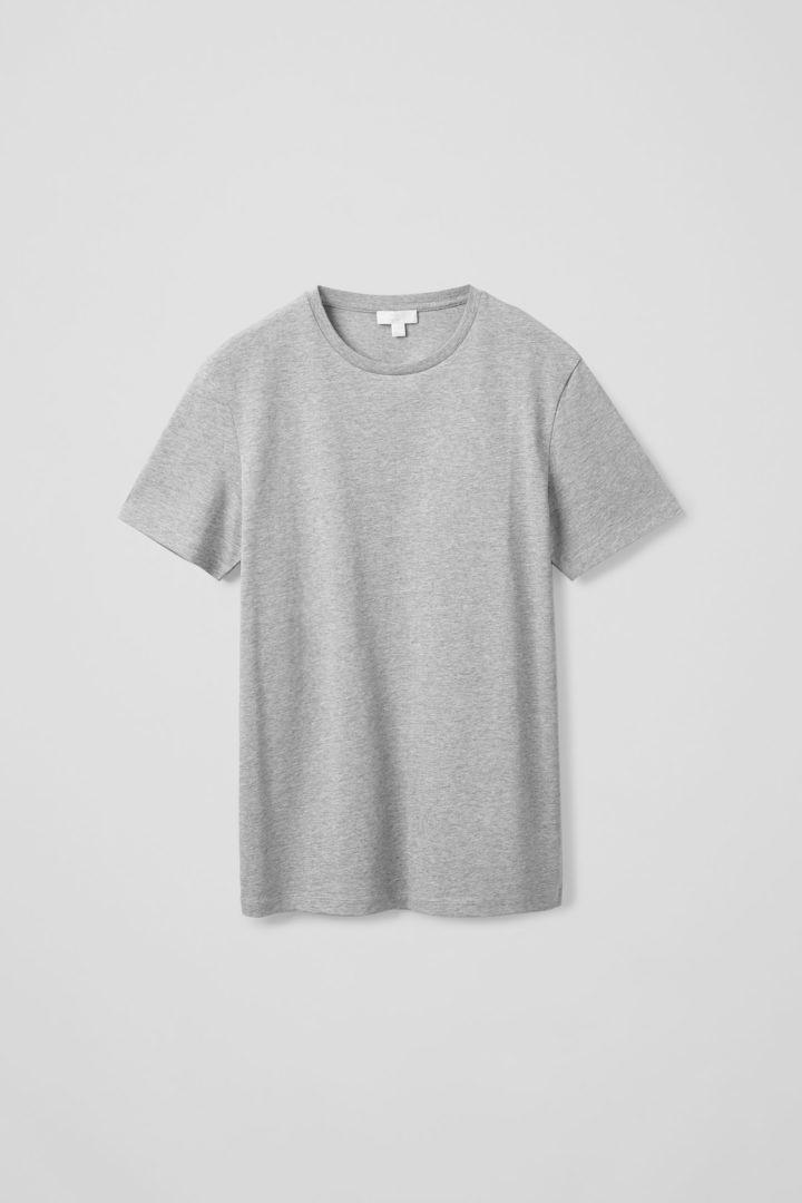 COS default image 2 of 그레이 in 라운드 넥 티셔츠