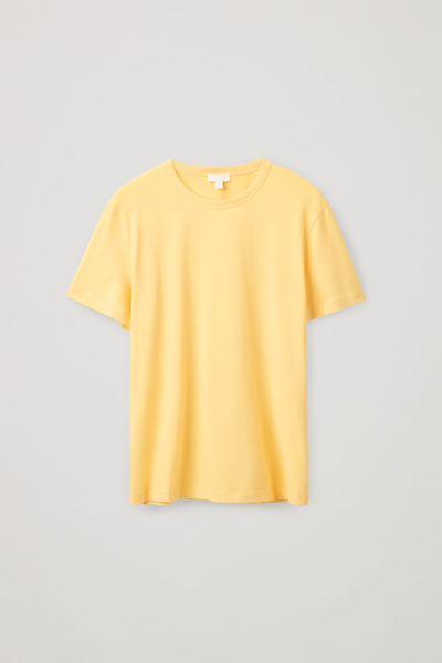 COS default image 6 of 옐로우 in 브러쉬드 코튼 티셔츠