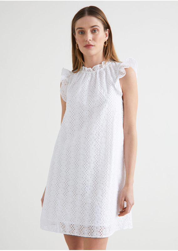 &OS image 27 of  in 프릴 브로드리 앙글레즈 미니 드레스