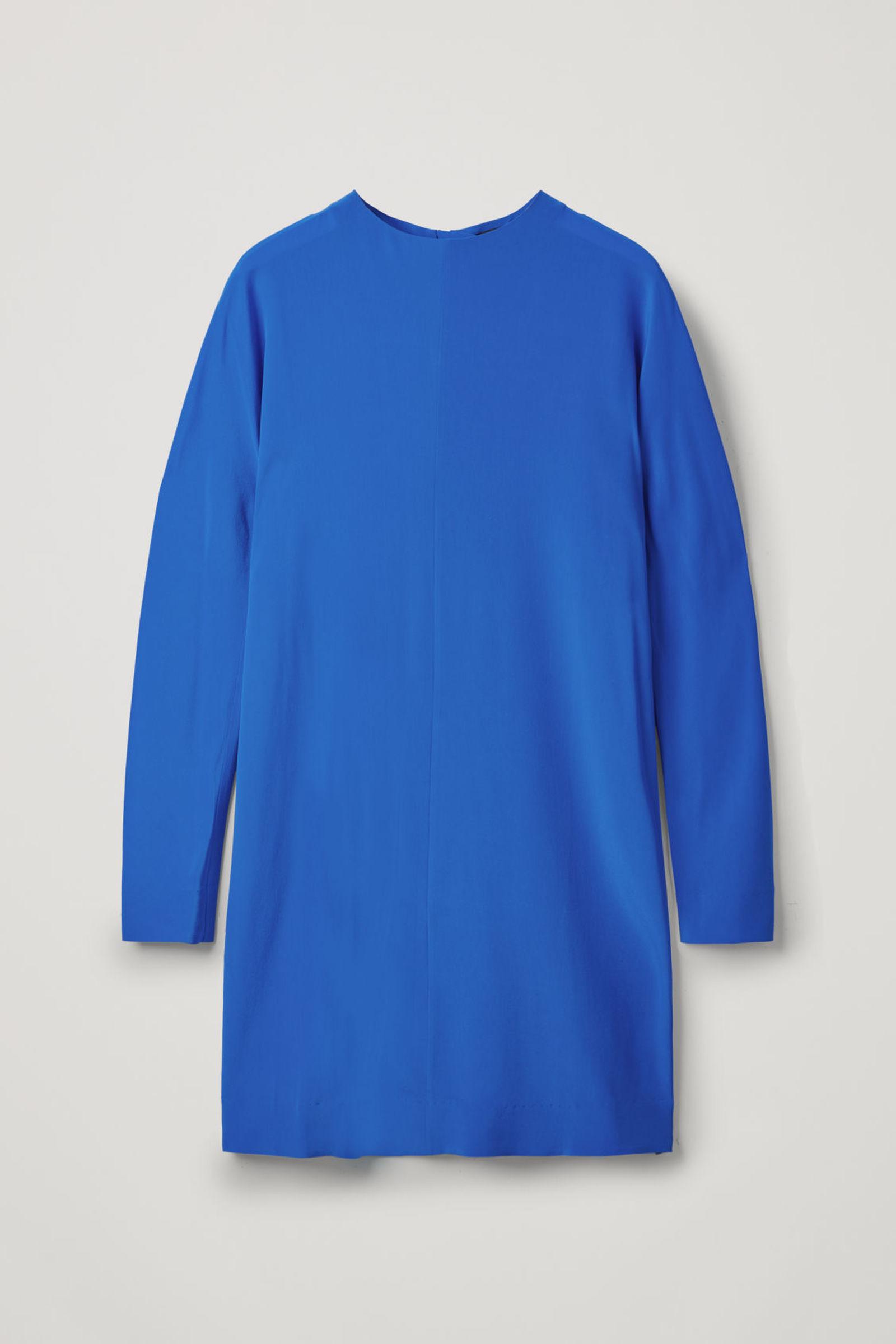 COS 지퍼 멀버리 실크 드레스의 블루컬러 Product입니다.