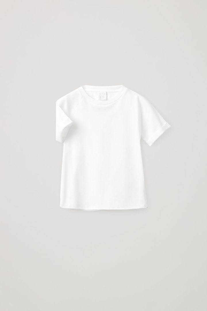 COS 오가닉 코튼 래글런 티셔츠의 화이트컬러 Product입니다.