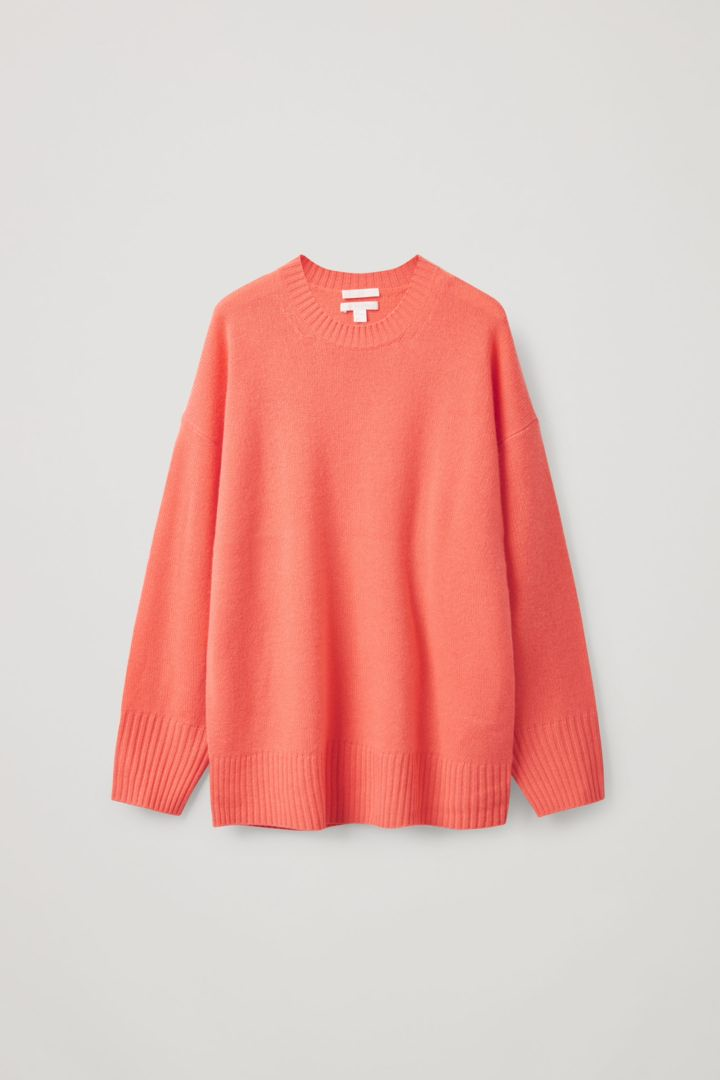 COS hover image 9 of 오렌지 in 오버사이즈 캐시미어 스웨터