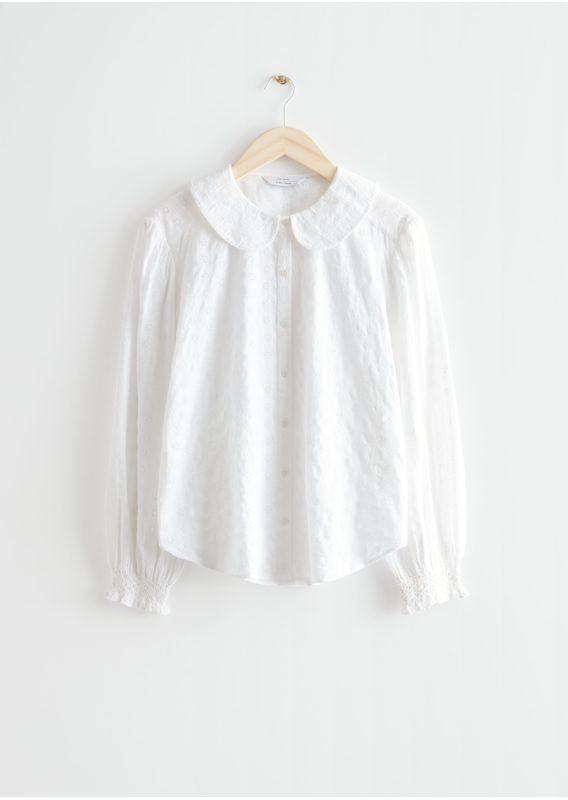 &OS image 8 of 화이트 in 피터 팬 카라 셔츠