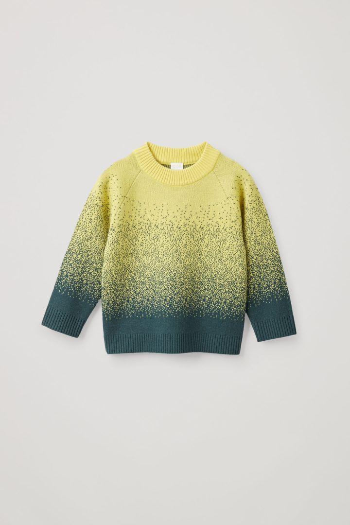COS default image 2 of 옐로우 in 캐시미어 울 믹스 앱스트랙트 페어 아일 니트 스웨터