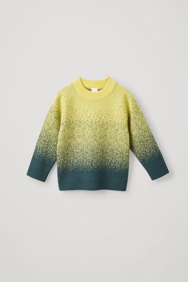 COS hover image 2 of 옐로우 in 캐시미어 울 믹스 앱스트랙트 페어 아일 니트 스웨터