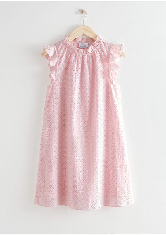 &OS image 26 of  in 프릴 브로드리 앙글레즈 미니 드레스
