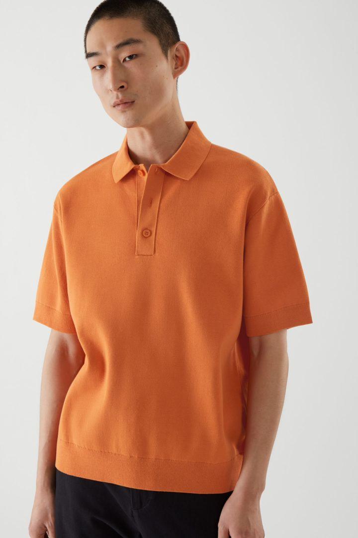 COS default image 5 of 오렌지 in 쇼트 슬리브 폴로 셔츠