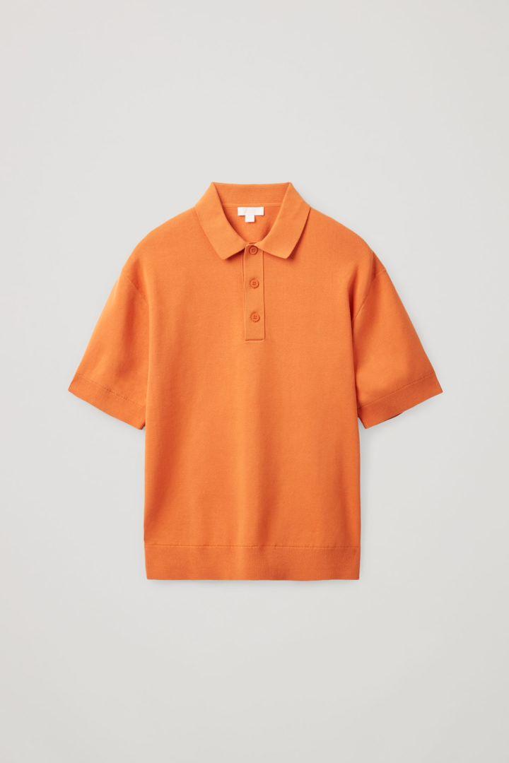 COS hover image 5 of 오렌지 in 쇼트 슬리브 폴로 셔츠