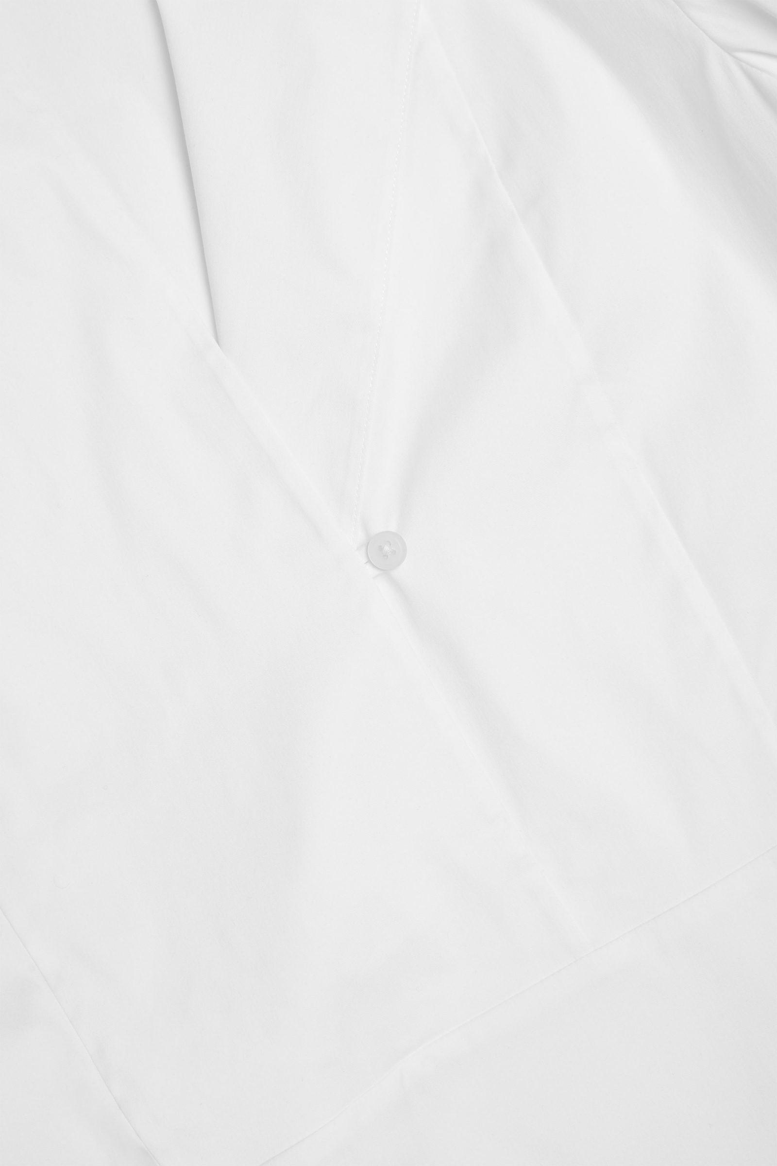 COS 오가닉 코튼 빕 디테일 셔츠의 화이트컬러 Detail입니다.