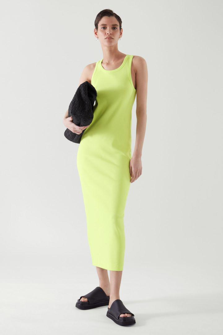 COS default image 7 of 옐로우 in 리브드 드레스