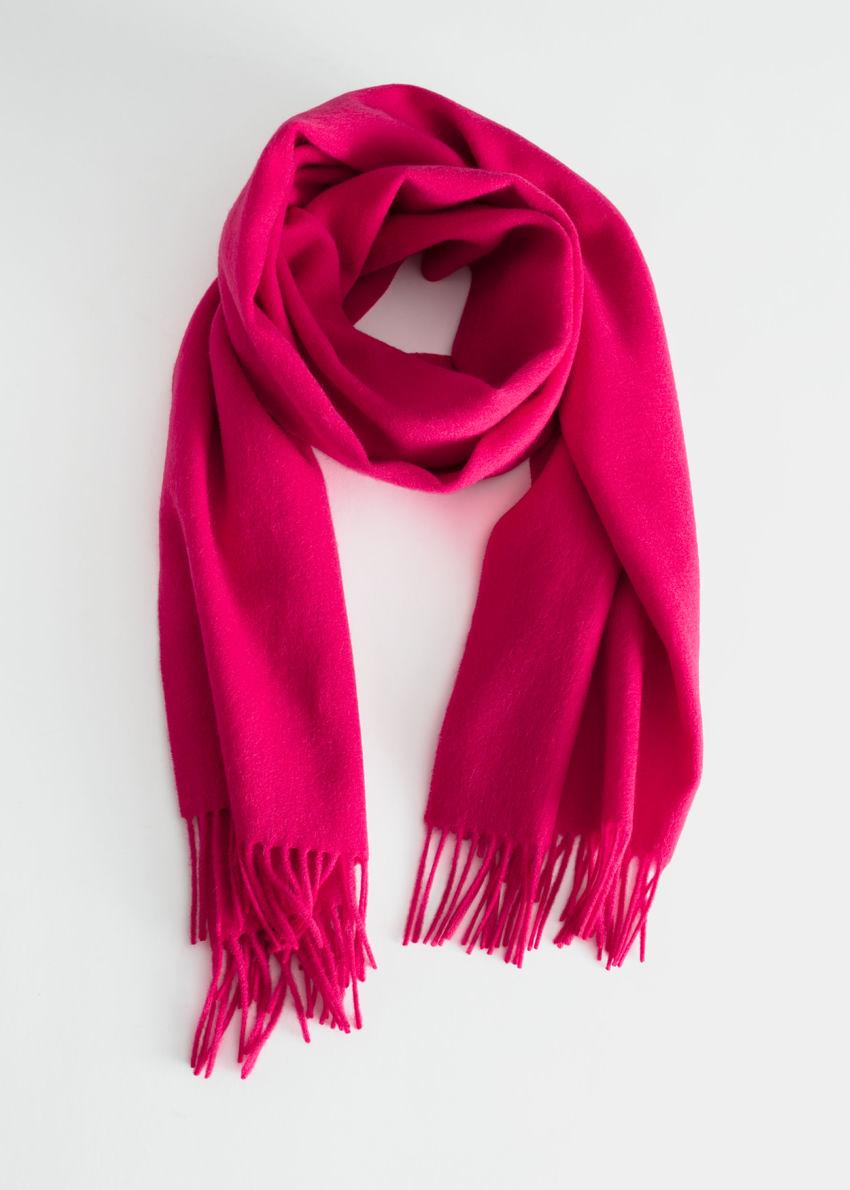 앤아더스토리즈 울 프린지 블랭킷 스카프의 핑크컬러 Product입니다.